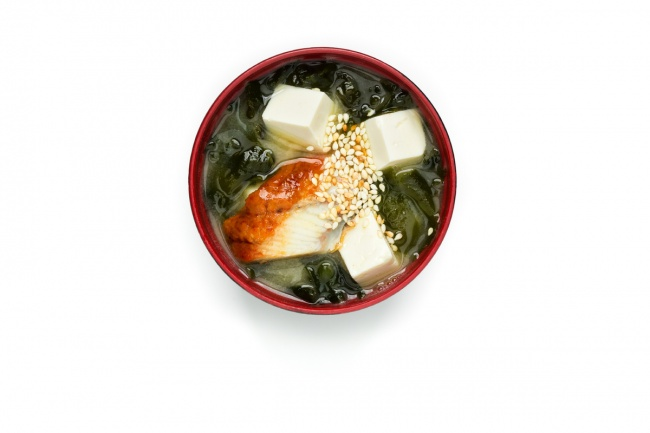 Miso soup with eel.